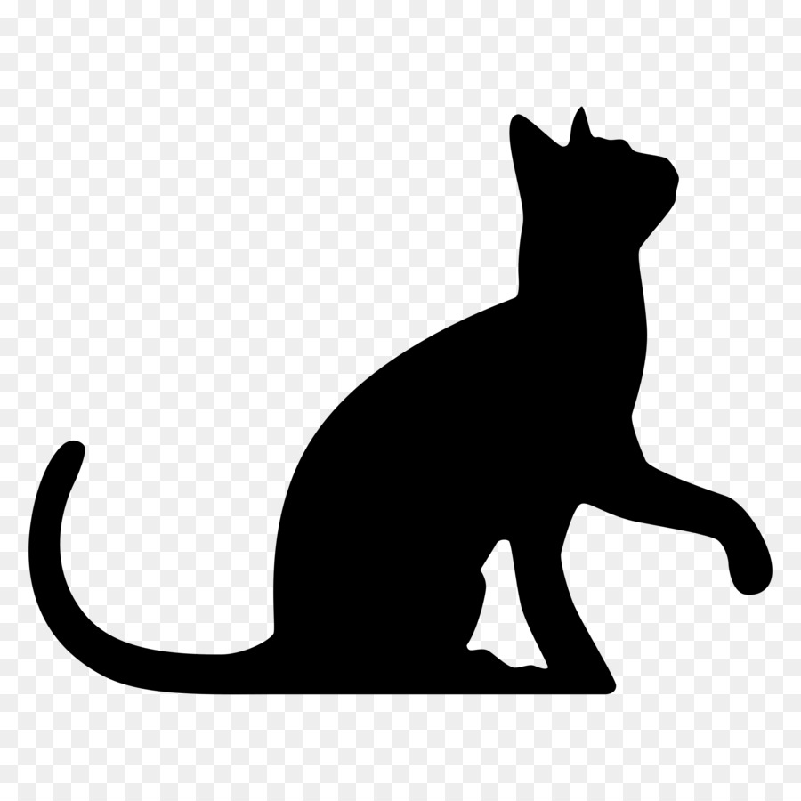 black cat wedding cake toppers black cat silhouette wedding cake topper clip animal 11859