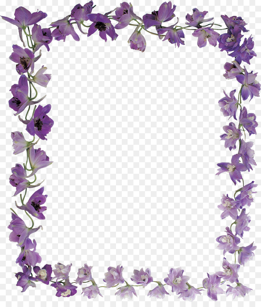 Picture Frames Flower Violet Purple - pearls png download - 2124 ...