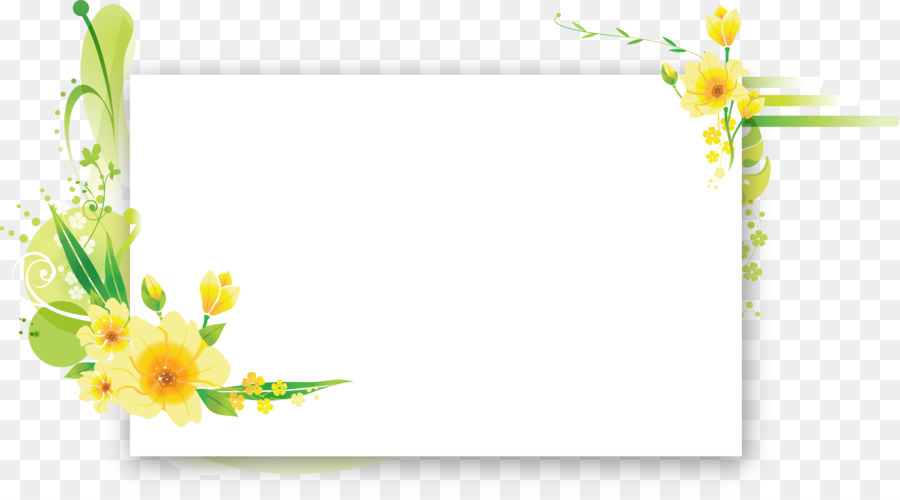 Flower Picture Frames Floral design Birthday Text - flower frame png ...