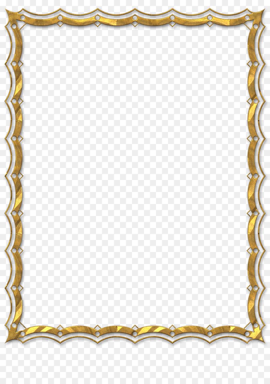 Picture Frames Digital image Clip art - gold frame png download ...