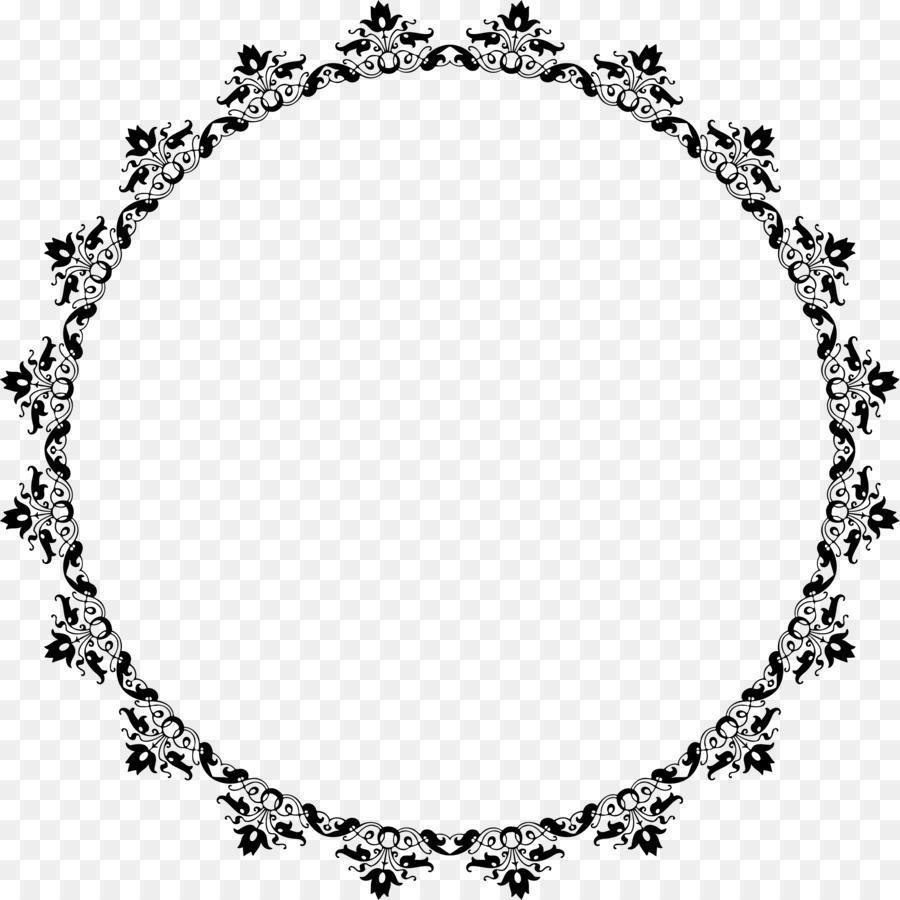 Diseño Floral de la Flor Clip art - marco del círculo Formatos De ...