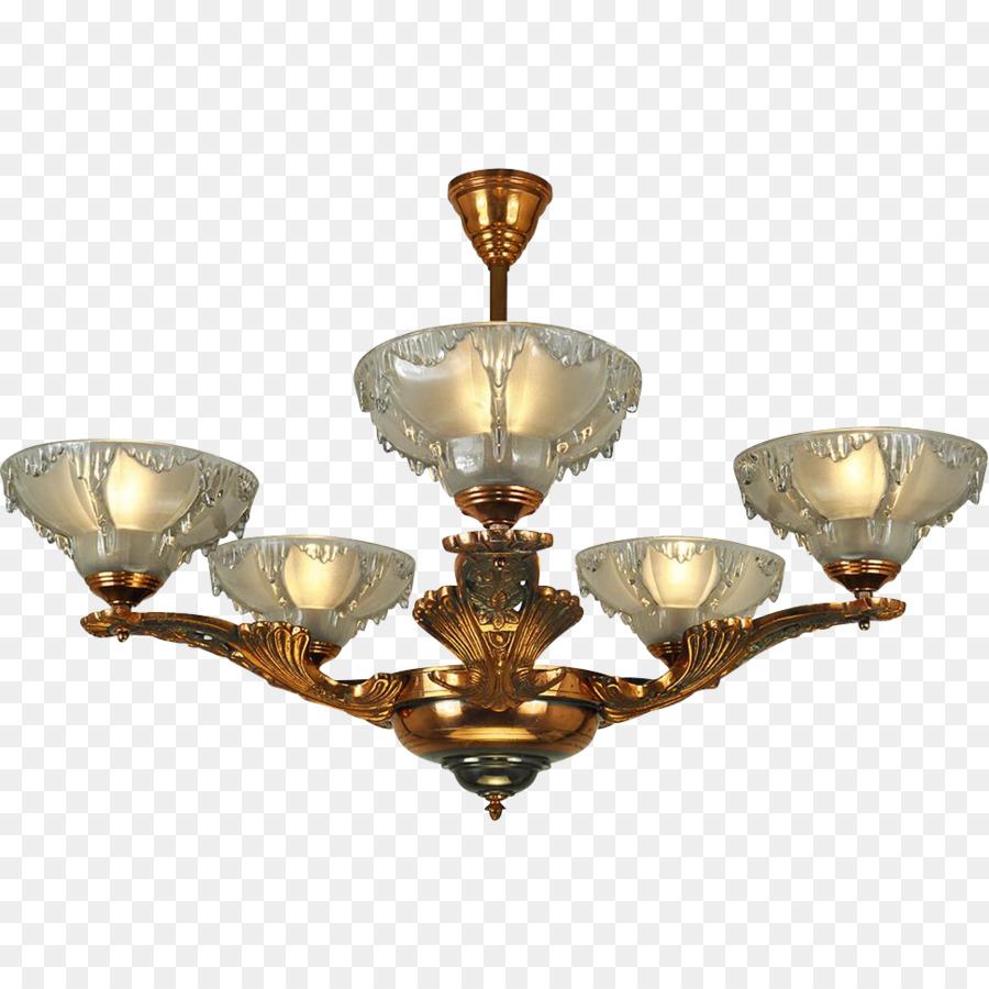 Chandelier Light Fixture Art Deco Nouveau Icicles