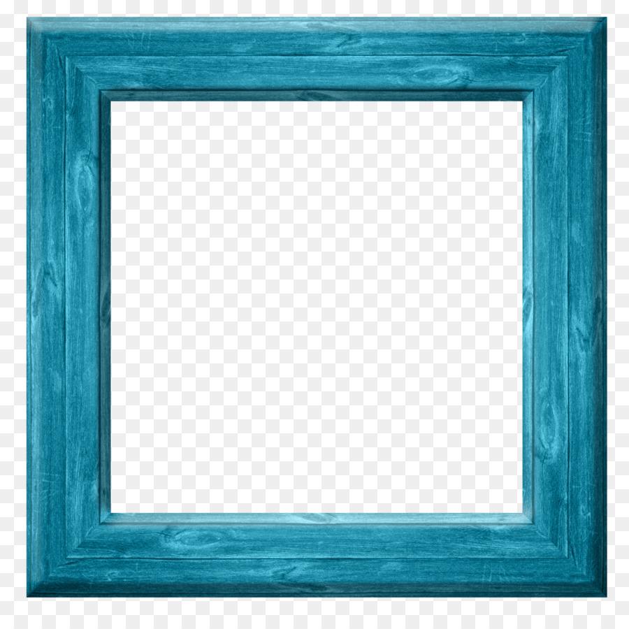 Turquoise Cobalt blue Teal Picture Frames - blue frame png download ...