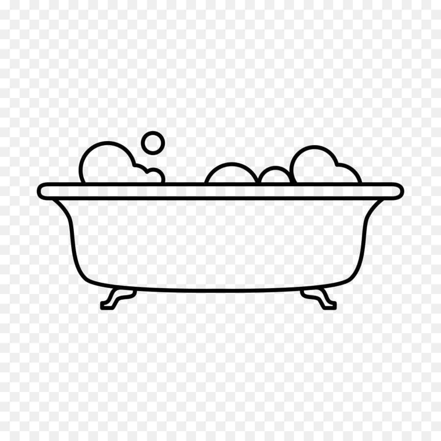 Bathtub Drawing Bathroom Sponge Line Art Bathtub Png Download - Drawing of bathroom