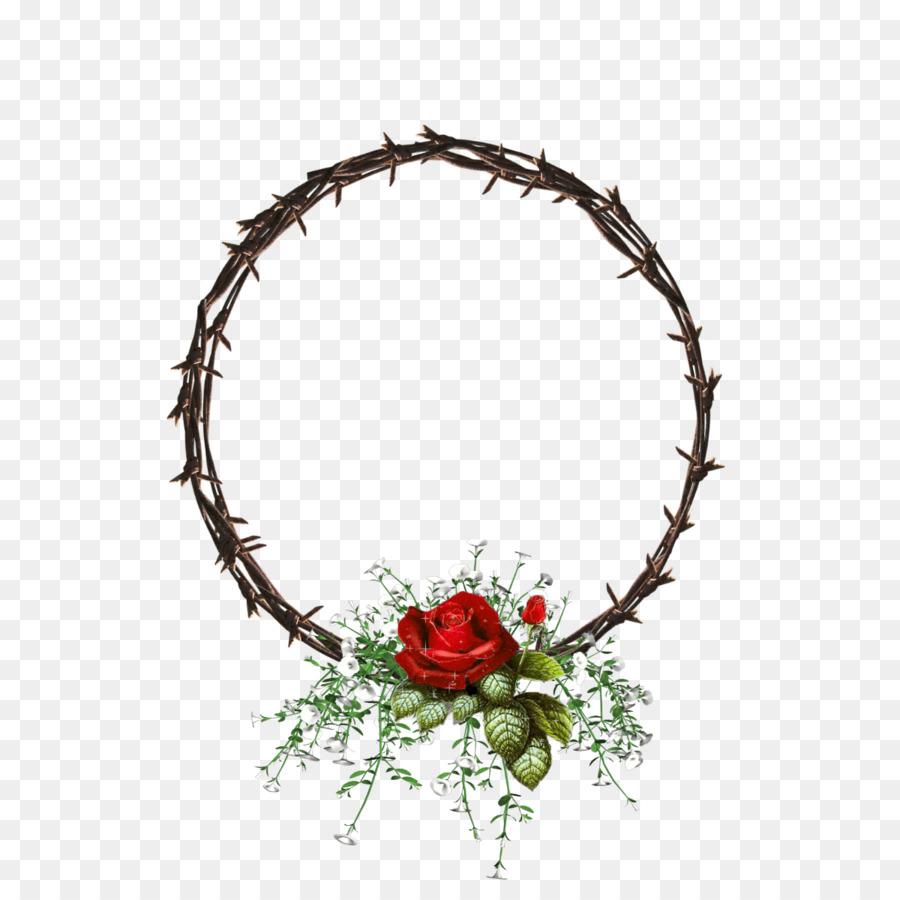 Flor de diseño Floral Corona Floristry 0 - marco del círculo ...