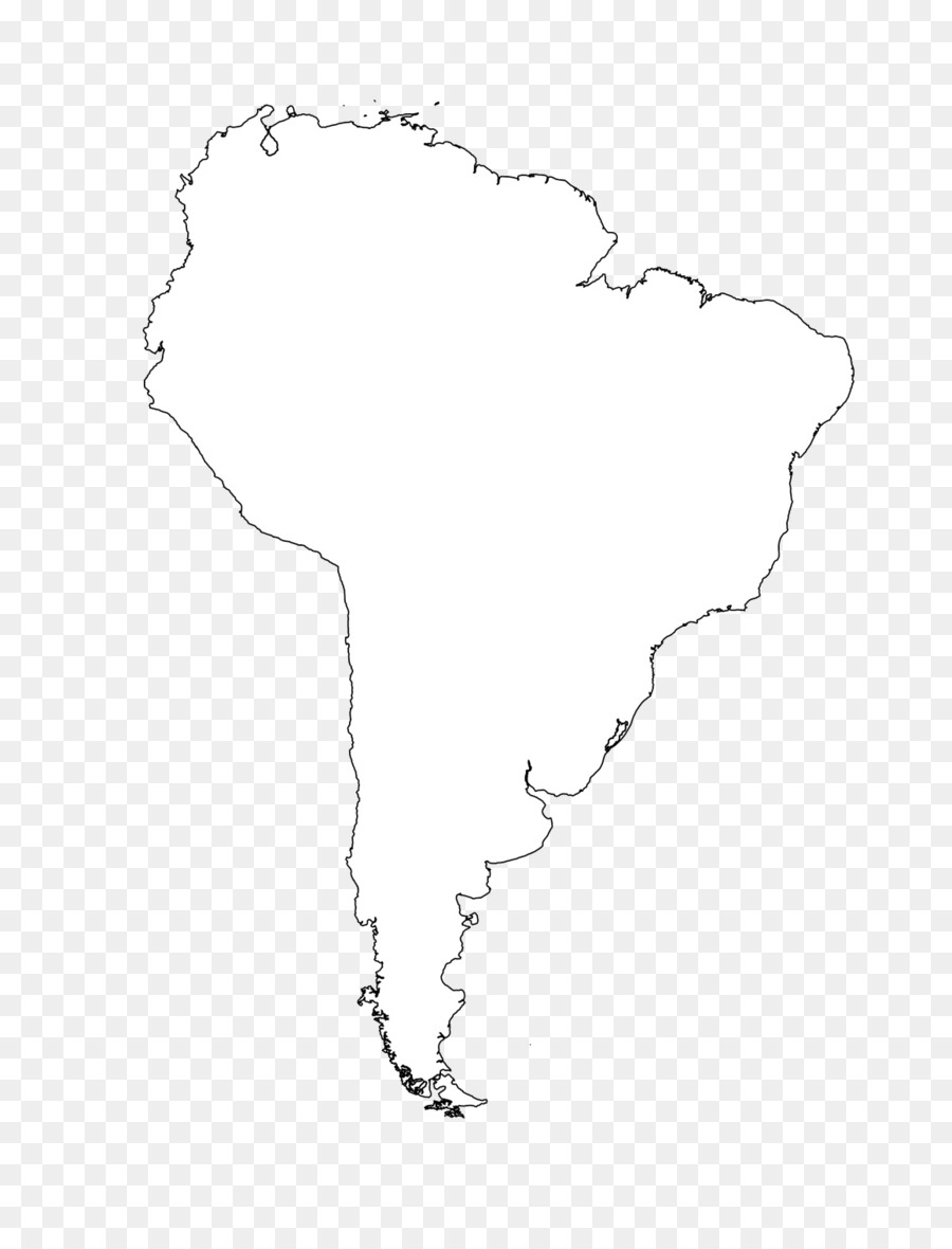 South America Latin America United States Blank Map Clip Art