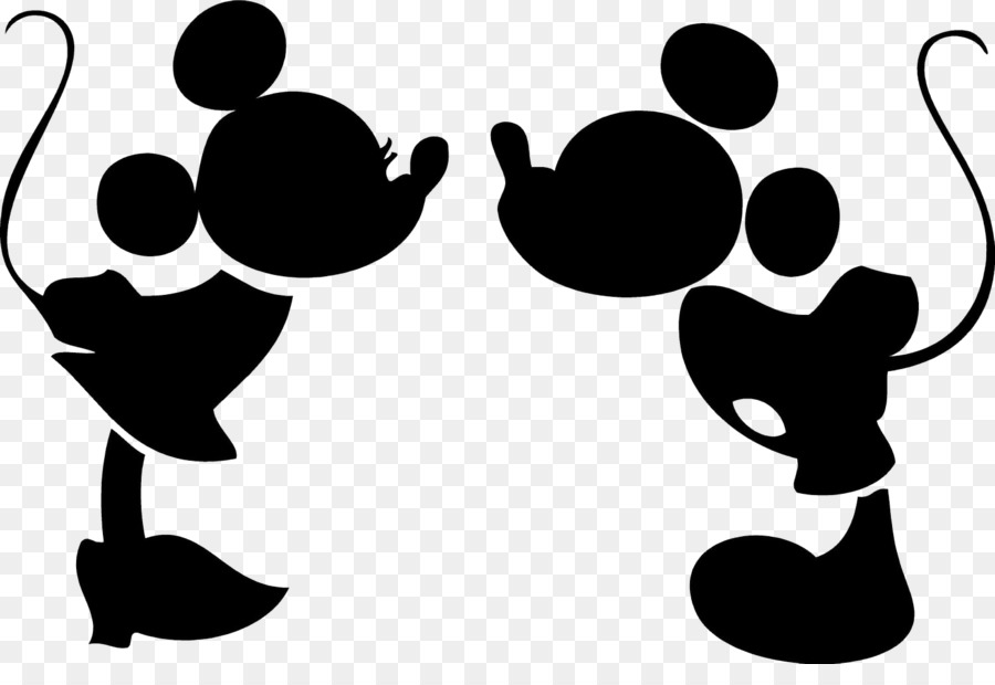 Mickey Mouse Minnie Mouse Epic Mickey Silhouette Drawing Kiss Png