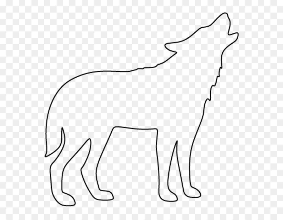 Dibujo de Perro lobo Ártico Clip art - siluetas de animales png ...
