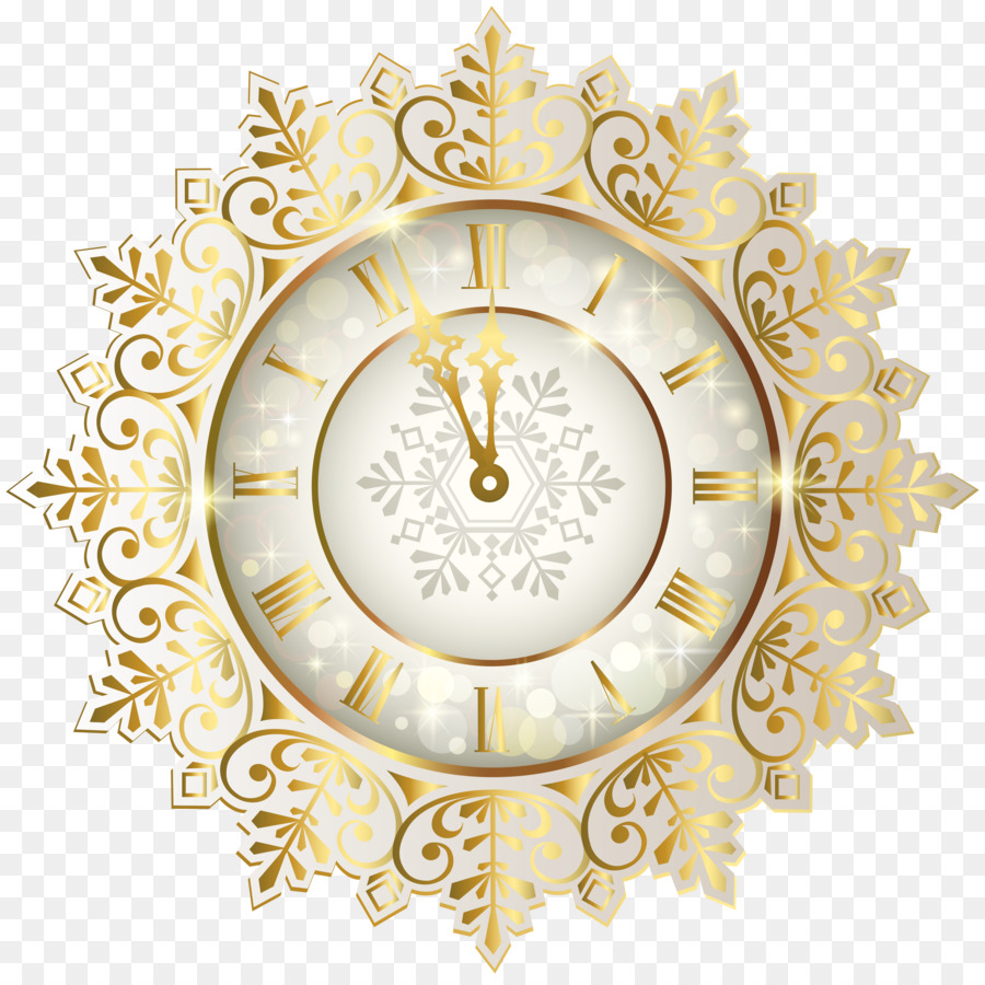 New Year\'s Day Clock New Year\'s Eve Clip art - time png download ...