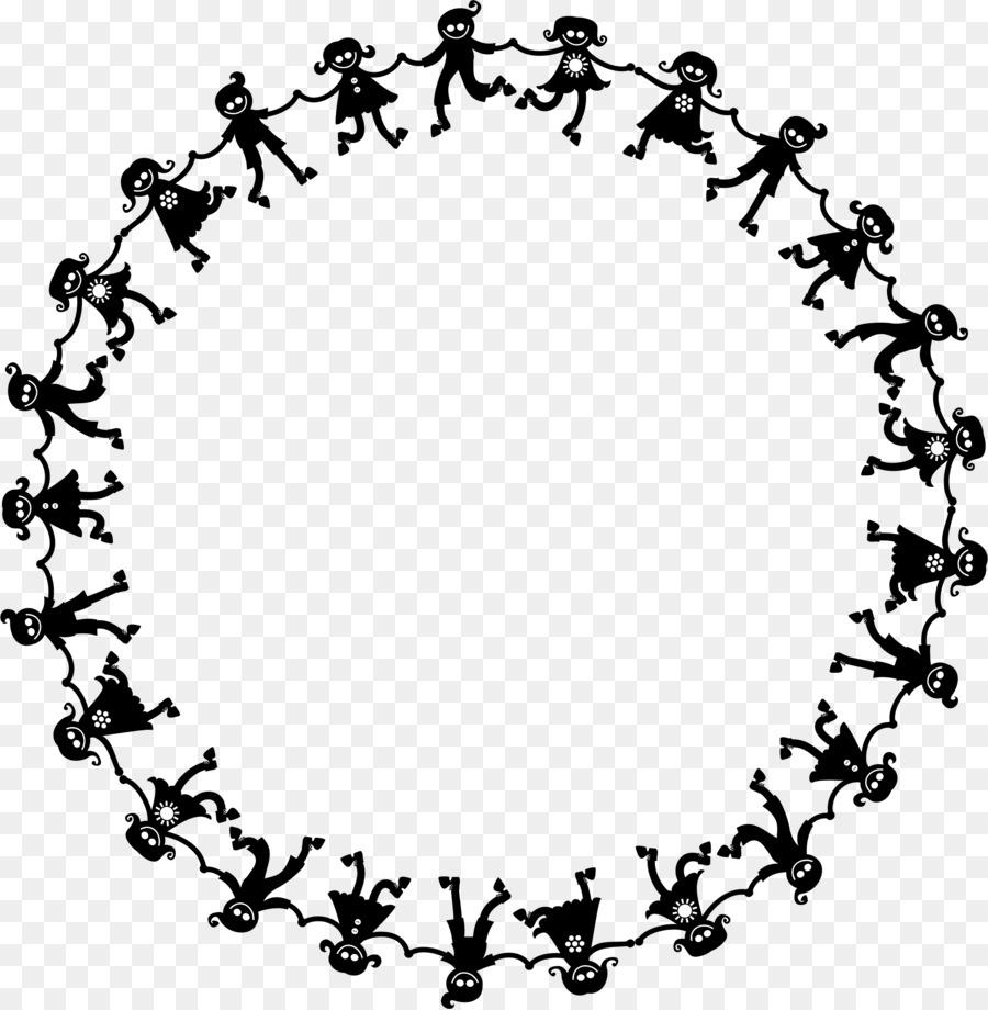 Holding hands Child Dance Clip art - circle frame png download ...