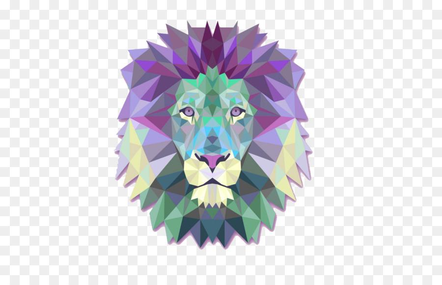 Lionhead Geometrie T Shirt Polygone Les Lions De La Tete