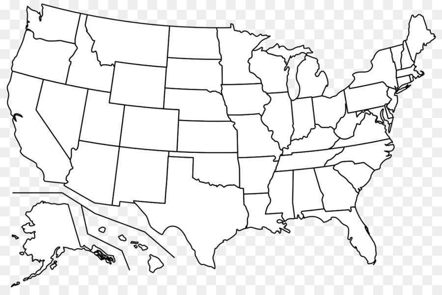 Blank Map Western United States Border World Map Usa Png Download