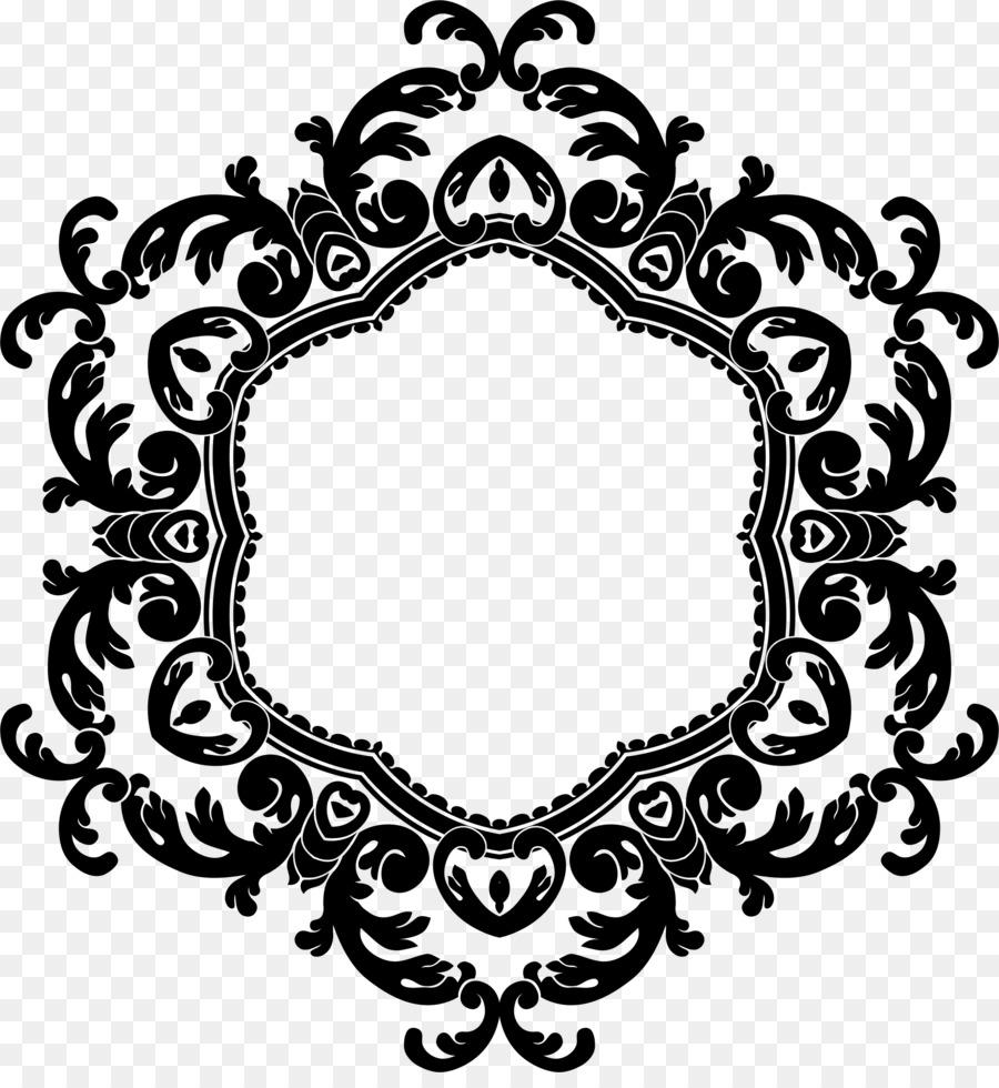 Marcos invitación de la Boda del Monograma Clip art - el marco de ...