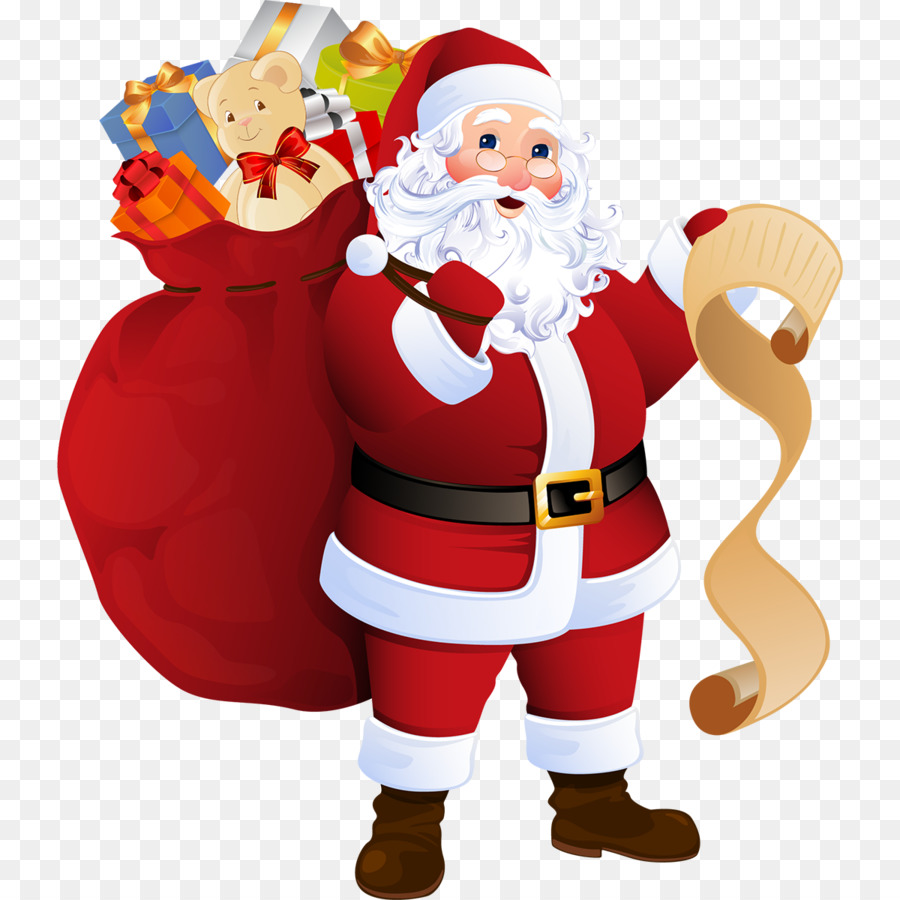 Santa Claus Father Christmas Gift Clip art - ice skates png download ...