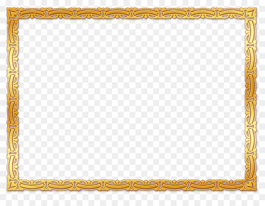Picture Frames Stock Photography Gold Clip Art Orange Frame Png