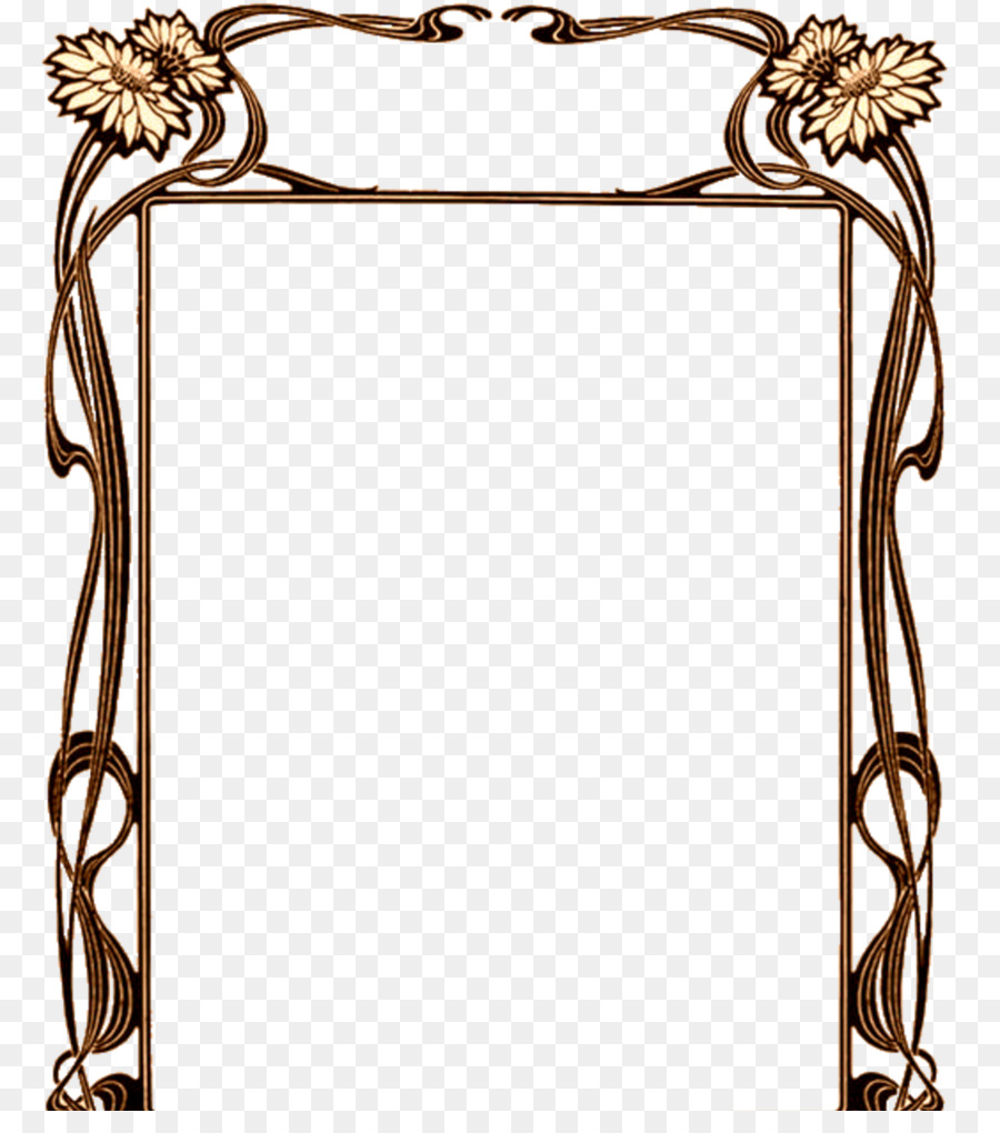 Borders and Frames Art Nouveau Art Deco - brown frame png download ...