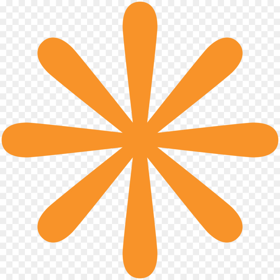 Emoji Asterisk Symbol - Orange Png Download - 10241024 -8534