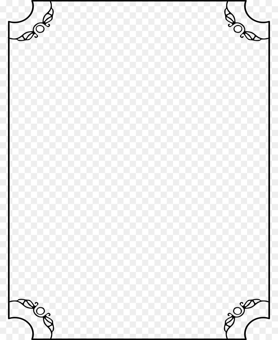 En blanco y negro escala de Grises, Monocromo Clip art - marco ...