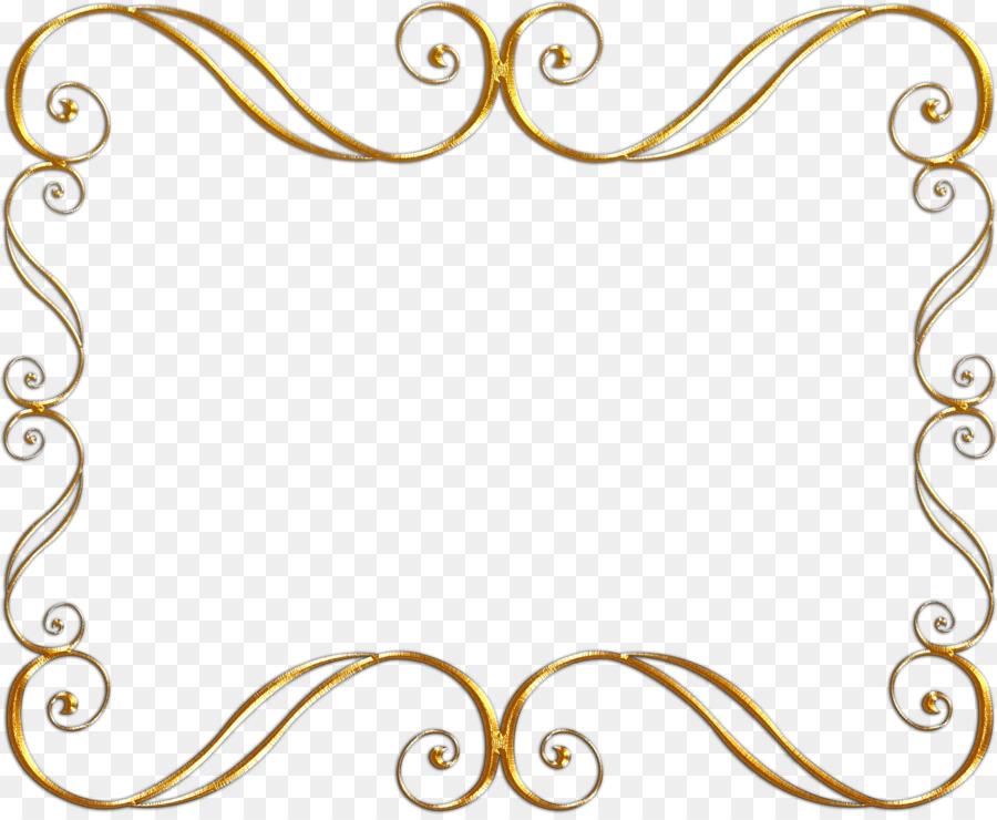 Picture Frames Digital image Gold Clip art - golden frame png ...