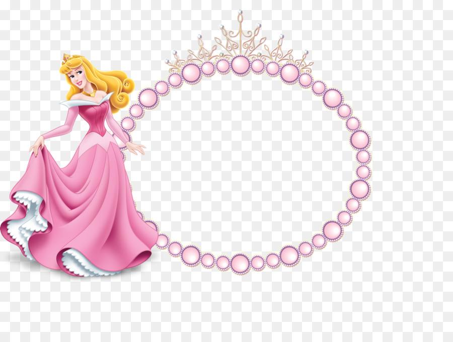 Princess Aurora Belle Giselle Disney Princess - pink frame png ...