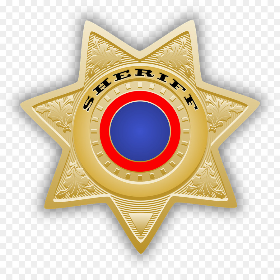 Sheriff Badge Police Officer Clip Art Sheriff Png Download 1280