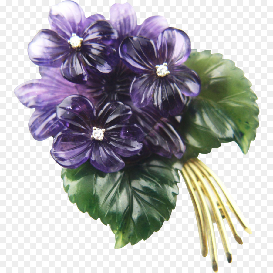 range inspired treasures violet brooch floral large