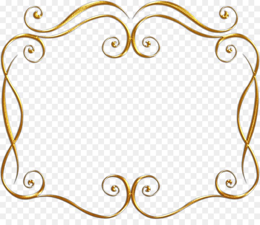 La pintura de la Línea de arte de Oro Clip art - marco de oro ...