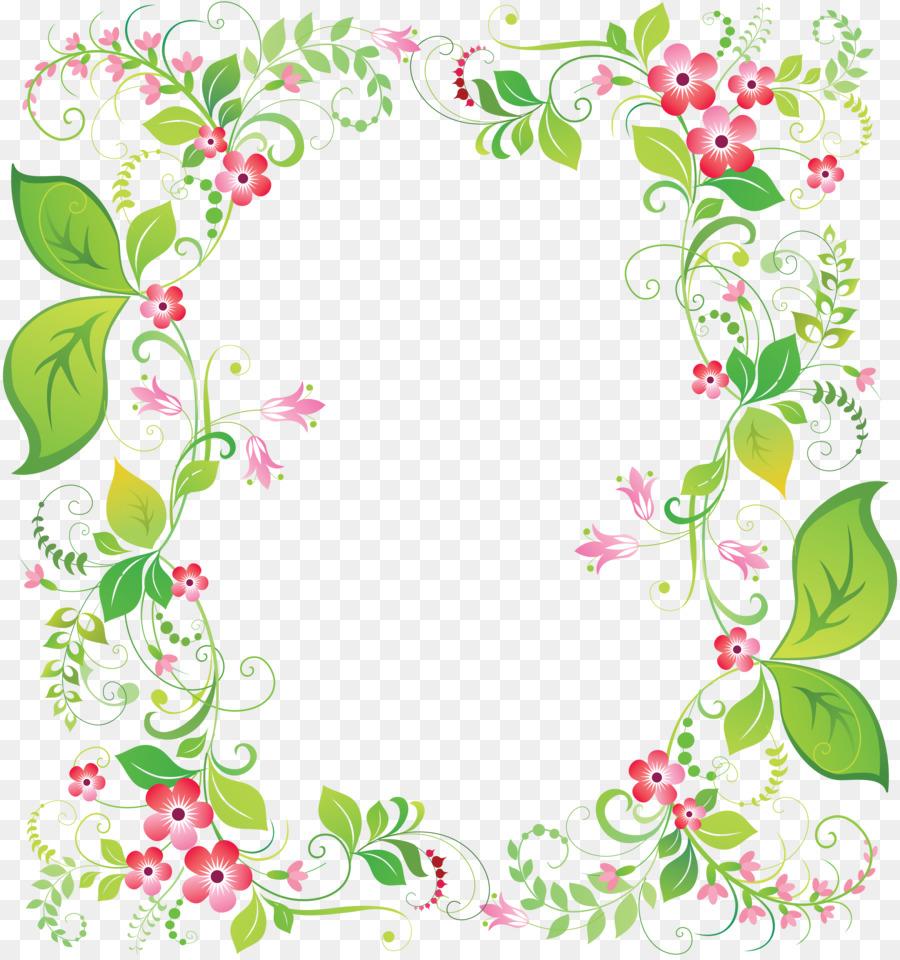 Picture Frames Flower Clip art - flower frame png download - 4318 ...