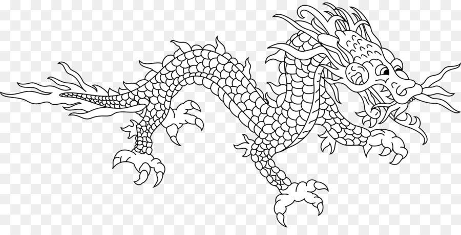China dragón Chino para Colorear libro de Mitología - dragón png ...