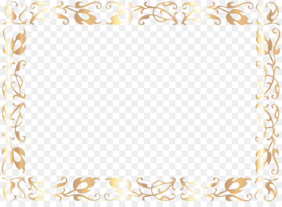 Gift card Template Clip art - gold frame png download - 8000*5744 ...