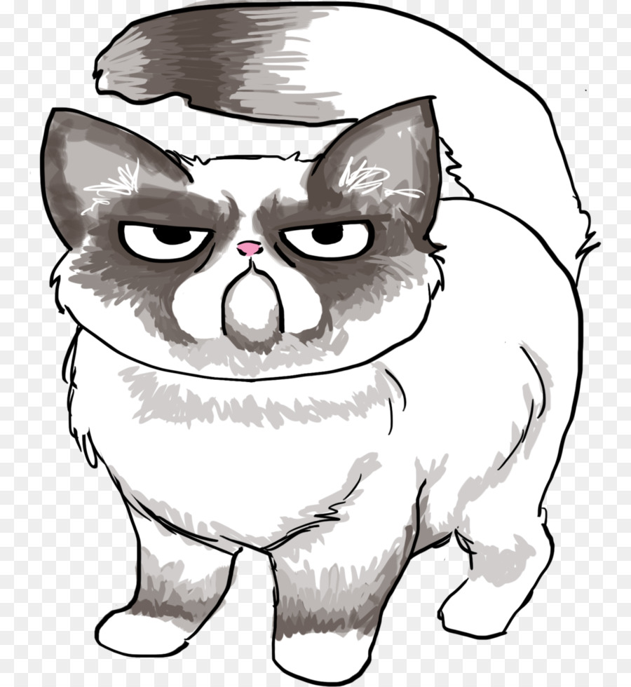 Grumpy Cat Line Drawing Wiring Diagrams Monostable 555 Timer Application Iamtechnicalcom Art Download 816 980 Free Rh Kiss Com Happy