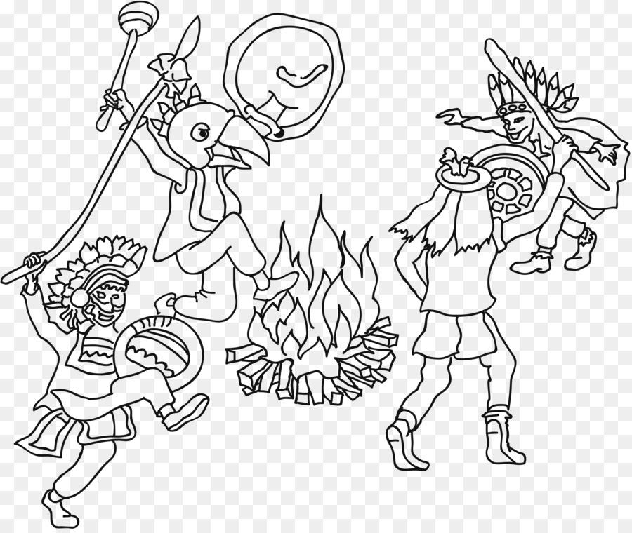 Ausmalbild libro para Colorear en Línea Dibujo artístico - Indianer ...