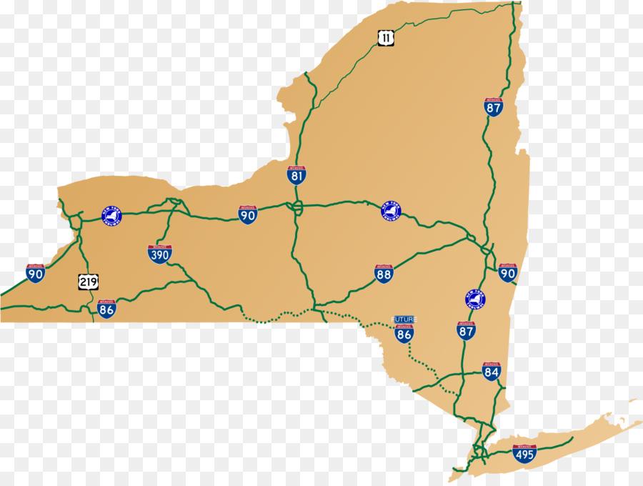 new york city new york state thruway upstate new york highway road map route