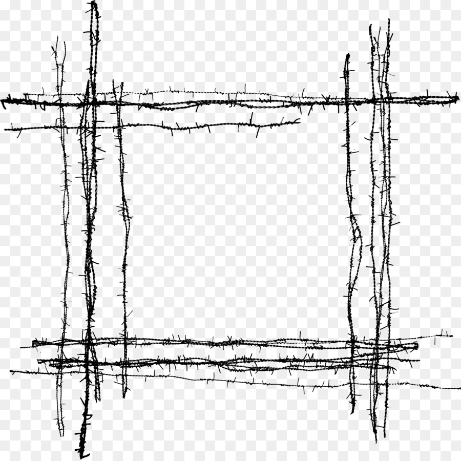 Barbed wire Fence - barbed wire material png png download - 2684 ...
