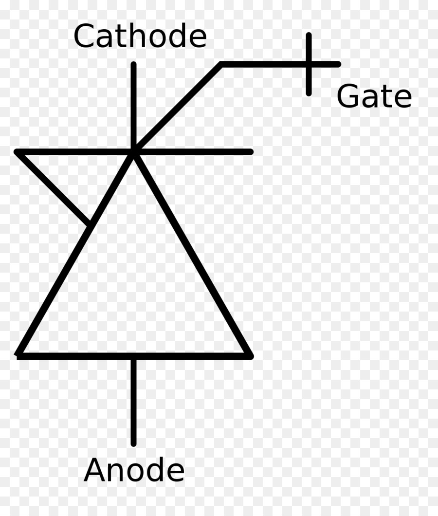 circuit diagram symbols triangle