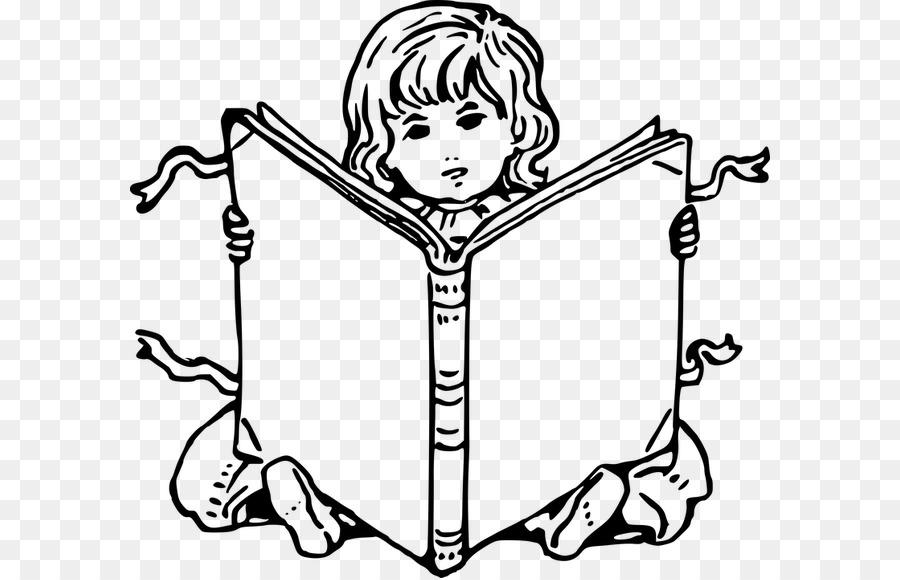 Libro para colorear de la Lectura de Dibujo - leer un libro png ...