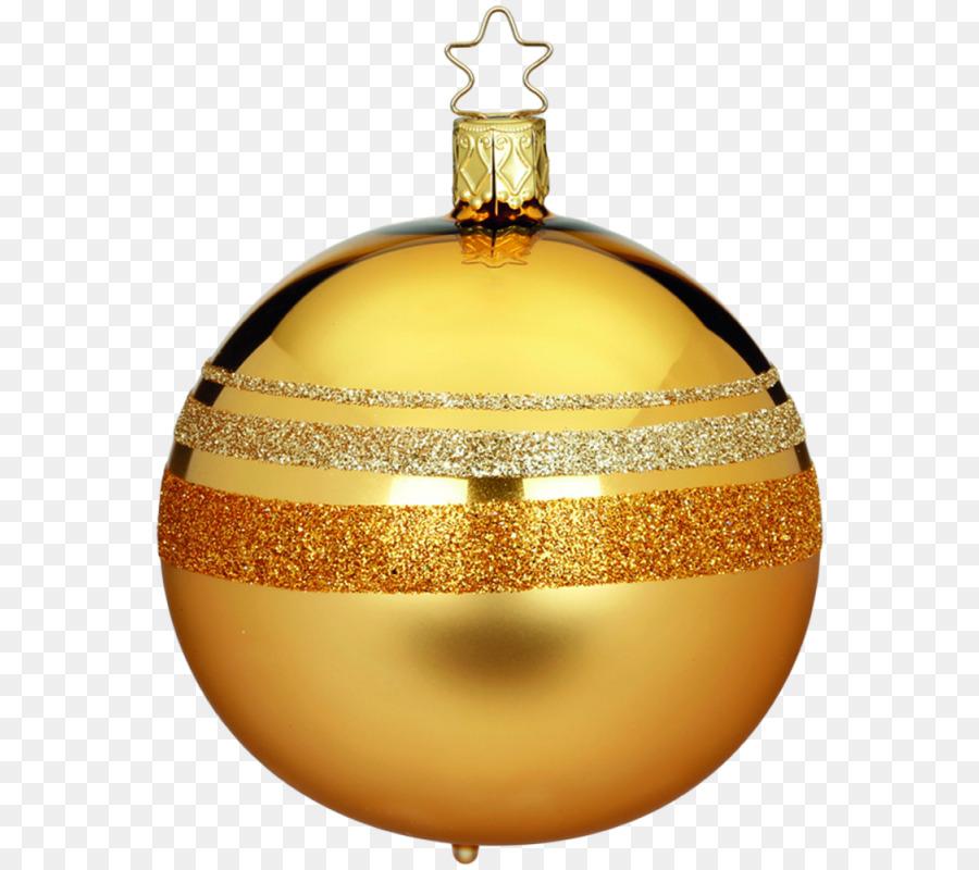 Christmas ornament Christmas decoration Glass Bell - Goldene