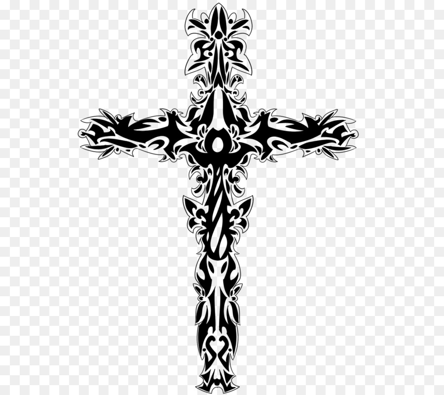 Tattoo Christian Cross Symbol Shop Background Png Download 600