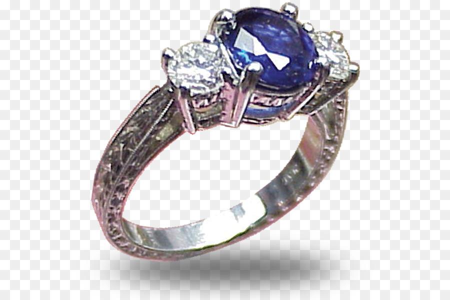 Hochzeit Ring Schmuck Edelstein Saphir Saphir Png Herunterladen