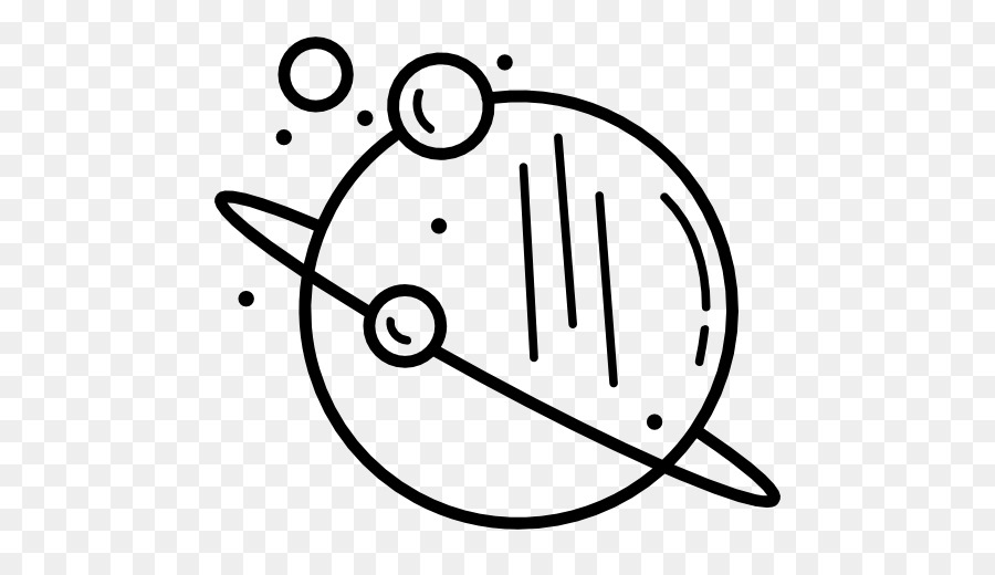 Black And White Planet Computer Icons Solar System Png Download