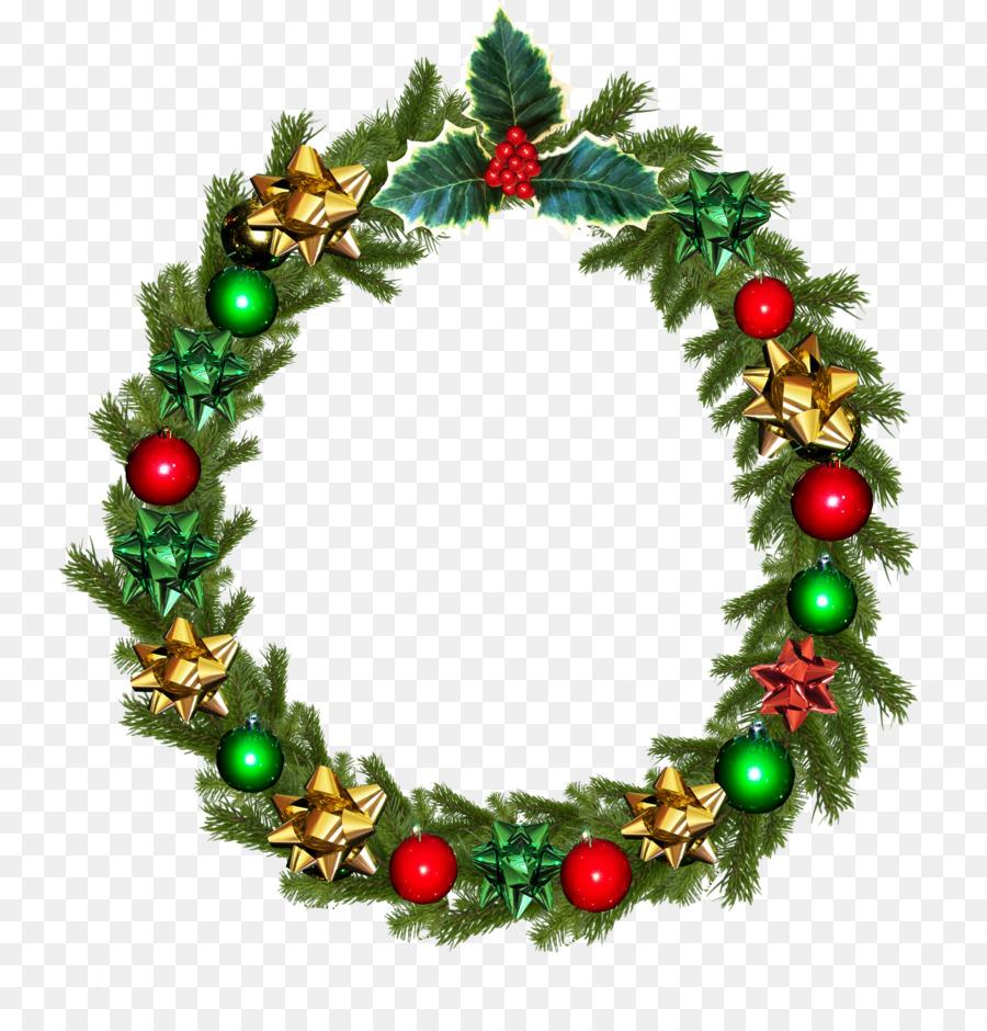 Christmas card Wreath Wedding invitation Clip art - garland png ...