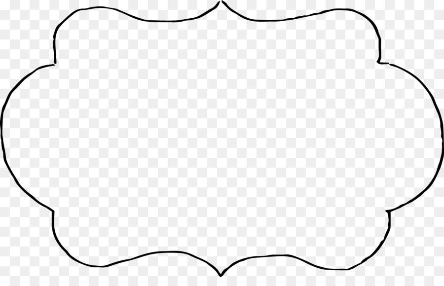 Línea de arte Monocromo Círculo - marco de vector conjunto png ...