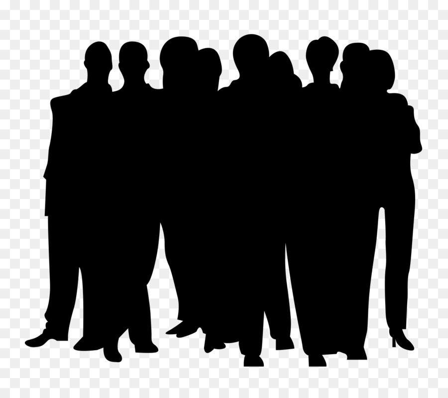 Drawing Clip art - silhouette crowd png download - 800*800 ...