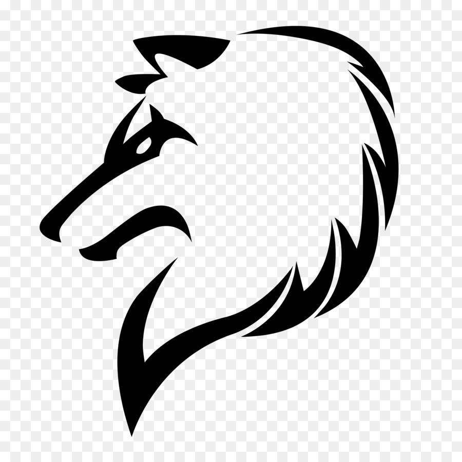 gray wolf drawing art sketch people logo design png download 894