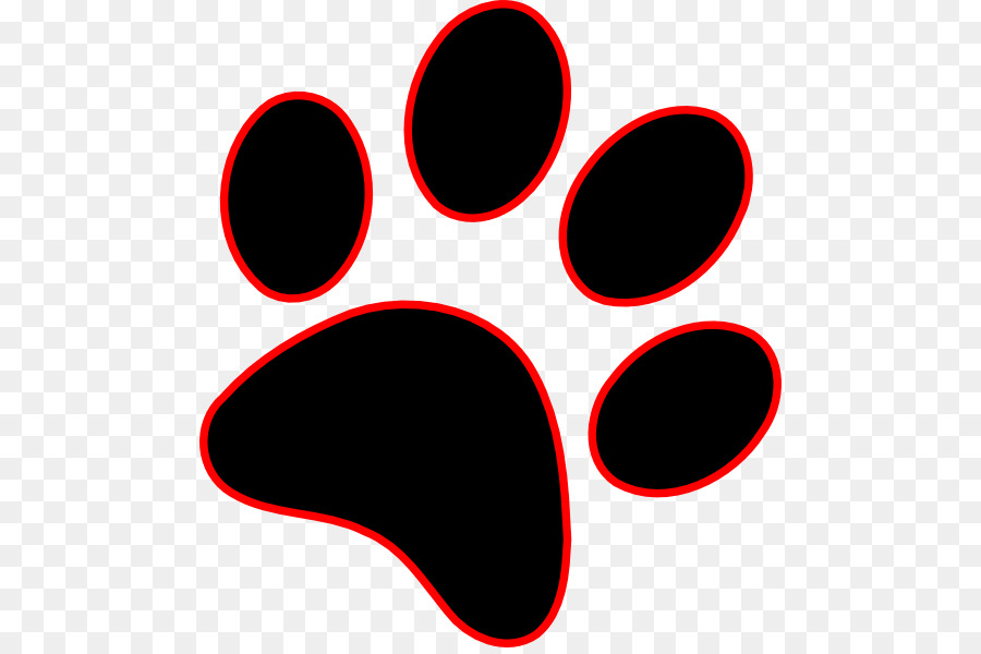 dog paw wildcat cougar clip art paw prints png download 534 594 rh kisspng com