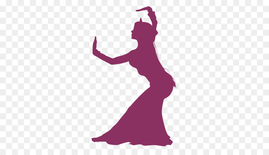 Belly Dance Silhouette Graphic Design Violet Vector Png Download