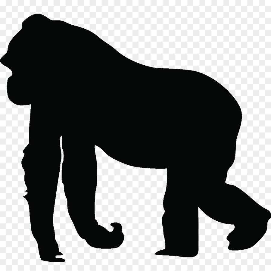 gorilla silhouette ape clip art gorilla vector png download 1200 rh kisspng com ape hangers clip art apa clip art