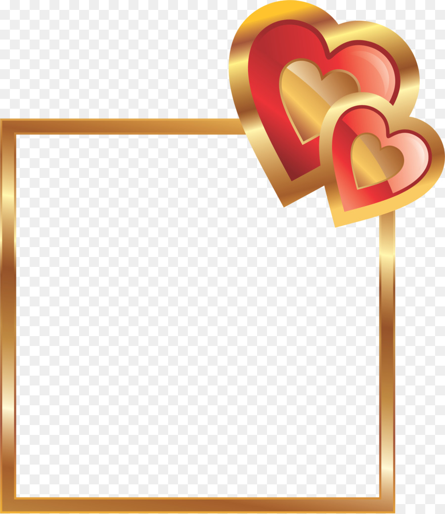Love Friendship Valentines Day Heart Red Frame Png Download