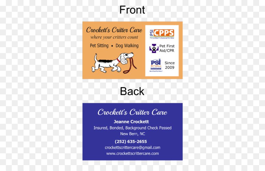 pet sitting advertising business cards graphic design photography