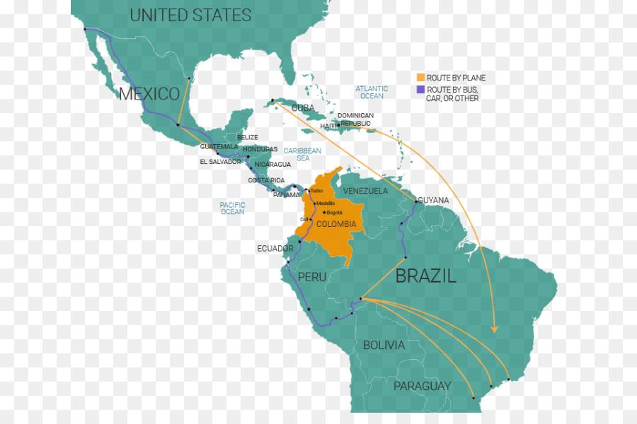 Latin America South America United States Map - irregular borders ...